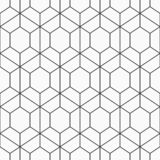 Configuration géométrique sans joint des hexagones Illustration de Vecteur