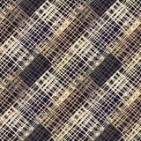 Configuration géométrique sans joint Plancher de Brown avec la texture en bois Couvre-tapis asiatique illustration stock