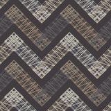 Configuration géométrique sans joint Plancher de Brown avec la texture en bois Couvre-tapis asiatique illustration libre de droits