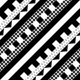Configuration géométrique sans joint Répétition de la conception ornementale ethnique Zigzag et ligne de formes de rayure Noir et Images libres de droits