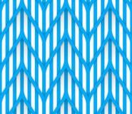 Configuration géométrique sans joint Rayures bleues sur un fond blanc Image stock