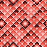 Configuration g?om?trique abstraite R?p?tition de rectangles Tuile color?e de corail de places illustration stock