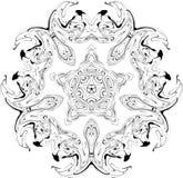 Configuration gothique de courbes illustration stock