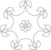 Configuration gothique des courbes illustration de vecteur