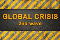 Configuration grunge avec le texte (crise globale) Photo stock
