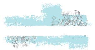 Configuration grunge bleue avec l'espace de légende Photo libre de droits