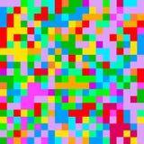 Configuration heureuse sans joint de famille du Pixel art Fond coloré abstrait de pixel Photos stock