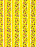 Configuration jaune de papier peint du vecteur Eps10 avec l'orange Image libre de droits