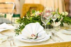 Configuration luxueuse de Tableau de mariage Photos stock