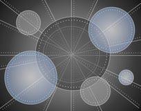 Configuration métallique fraîche de cercles photos stock