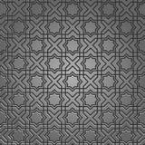 Configuration métallique sur le motif islamique Image libre de droits