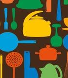 Configuration mignonne de cuisine. Images libres de droits