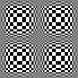 Configuration noire et blanche abstraite Photos stock