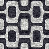 Configuration noire et blanche abstraite de trottoir Photos stock