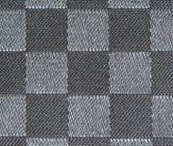 Configuration noire et blanche de tissu Images stock