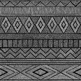 Configuration noire et blanche sans joint abstraction géométrique Ethni illustration de vecteur