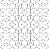 Configuration noire et blanche sans joint abstraite Photo stock