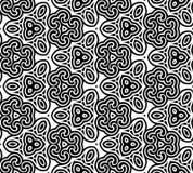 Configuration noire et blanche sans joint abstraite Image libre de droits