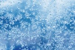 Configuration normale givrée sur la glace de l'hiver Photo libre de droits
