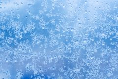 Configuration normale givrée sur la glace de l'hiver Image libre de droits