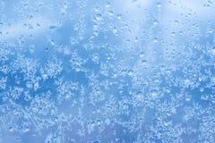 Configuration normale givrée sur la glace de l'hiver Photos stock