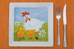 Configuration orange de table Photographie stock libre de droits