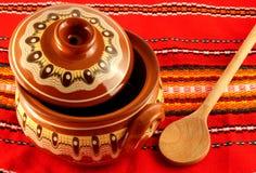 Configuration orientale de poterie Image stock