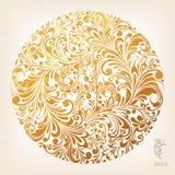 Configuration ornementale de cercle d'or Image stock
