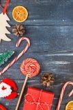 Configuration plate de décoration de nouvelle année ou de Noël photographie stock libre de droits