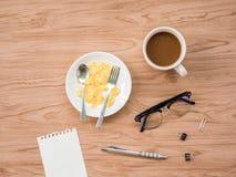 Configuration plate du café 1 Photo libre de droits
