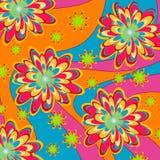 Configuration psychédélique florale Image libre de droits