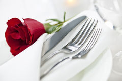 Configuration romantique de dîner photo stock