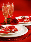 Configuration romantique de table Image stock