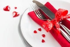 Configuration romantique de table Images stock