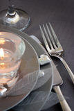 Configuration romantique de table de jour de Valentine Photos libres de droits