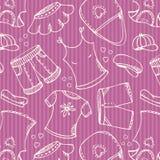 Configuration rose de achat de mode illustration stock