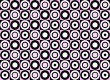 Configuration rose de cercle. Vecteur Photos libres de droits