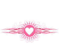 Configuration rose de coeur Photo stock