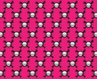 Configuration rose de crâne Image libre de droits