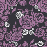 Configuration rose de fleur sans joint de cru de vecteur Photo stock