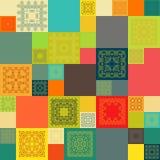 Configuration sans joint Éléments décoratifs de cru Photo stock