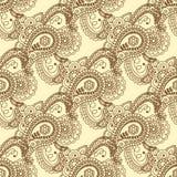 Configuration sans joint Éléments décoratifs de cru Fond tiré par la main L'Islam, l'arabe, Indien, motifs de tabouret Perfection illustration de vecteur