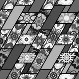 Configuration sans joint Éléments décoratifs de cru Fond tiré par la main L'Islam, l'arabe, Indien, motifs de tabouret Perfection illustration libre de droits