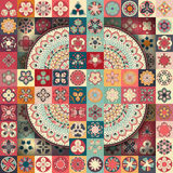 Configuration sans joint Éléments décoratifs de cru Fond tiré par la main L'Islam, l'arabe, Indien, motifs de tabouret Perfection Images stock