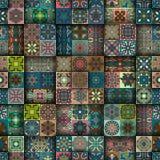 Configuration sans joint Éléments décoratifs de cru Fond tiré par la main L'Islam, l'arabe, Indien, motifs de tabouret Perfection Images libres de droits