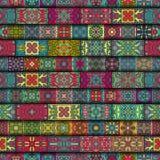 Configuration sans joint Éléments décoratifs de cru Fond tiré par la main L'Islam, l'arabe, Indien, motifs de tabouret Perfection Photographie stock