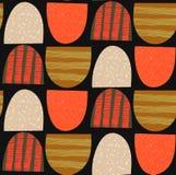 Configuration sans joint abstraite Arched a donné à des formes une consistance rugueuse Fond de répétition créatif coloré Photographie stock libre de droits