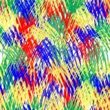 Configuration sans joint abstraite Courses multicolores de brosse sur un fond blanc illustration de vecteur