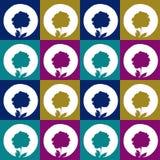 Configuration sans joint abstraite florale illustration de vecteur