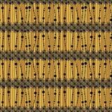 Configuration sans joint abstraite Fond de Brown avec des bandes de dentelle Photo stock